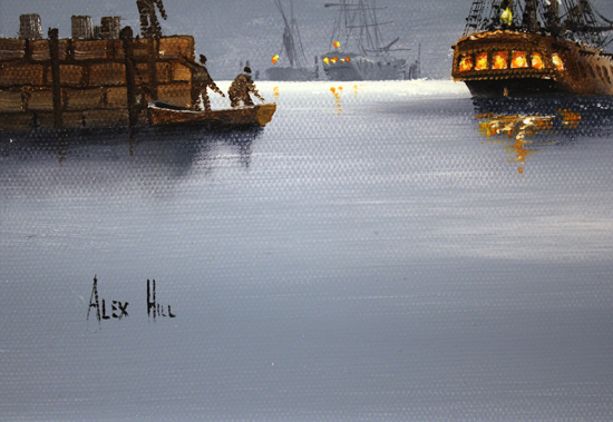 Alex Hill, Original oil painting on canvas, Out to Sea Signature image. Click to enlarge