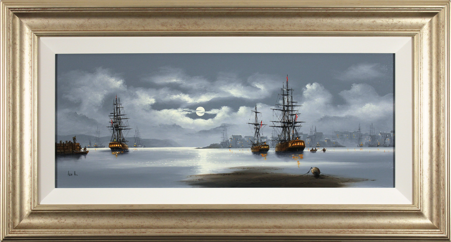 Alex Hill, Original oil painting on canvas, Out to Sea Click to enlarge