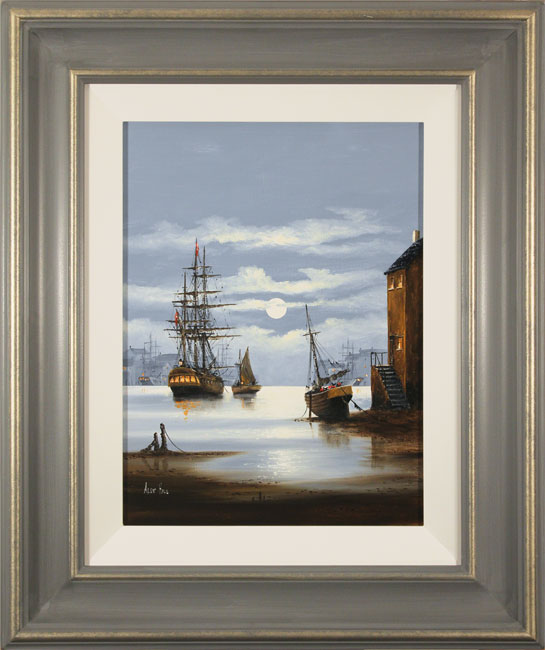 Alex Hill, Original oil painting on canvas, Leaving Harbour
