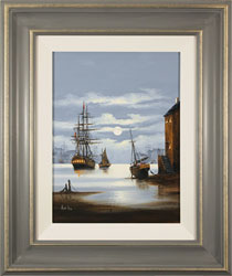 Alex Hill, Leaving Harbour, Original oil painting on canvas
