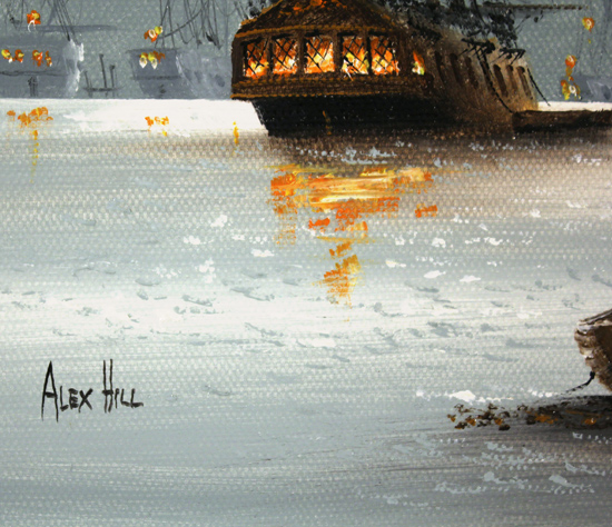 Alex Hill, Original oil painting on canvas, Dockside Signature image. Click to enlarge