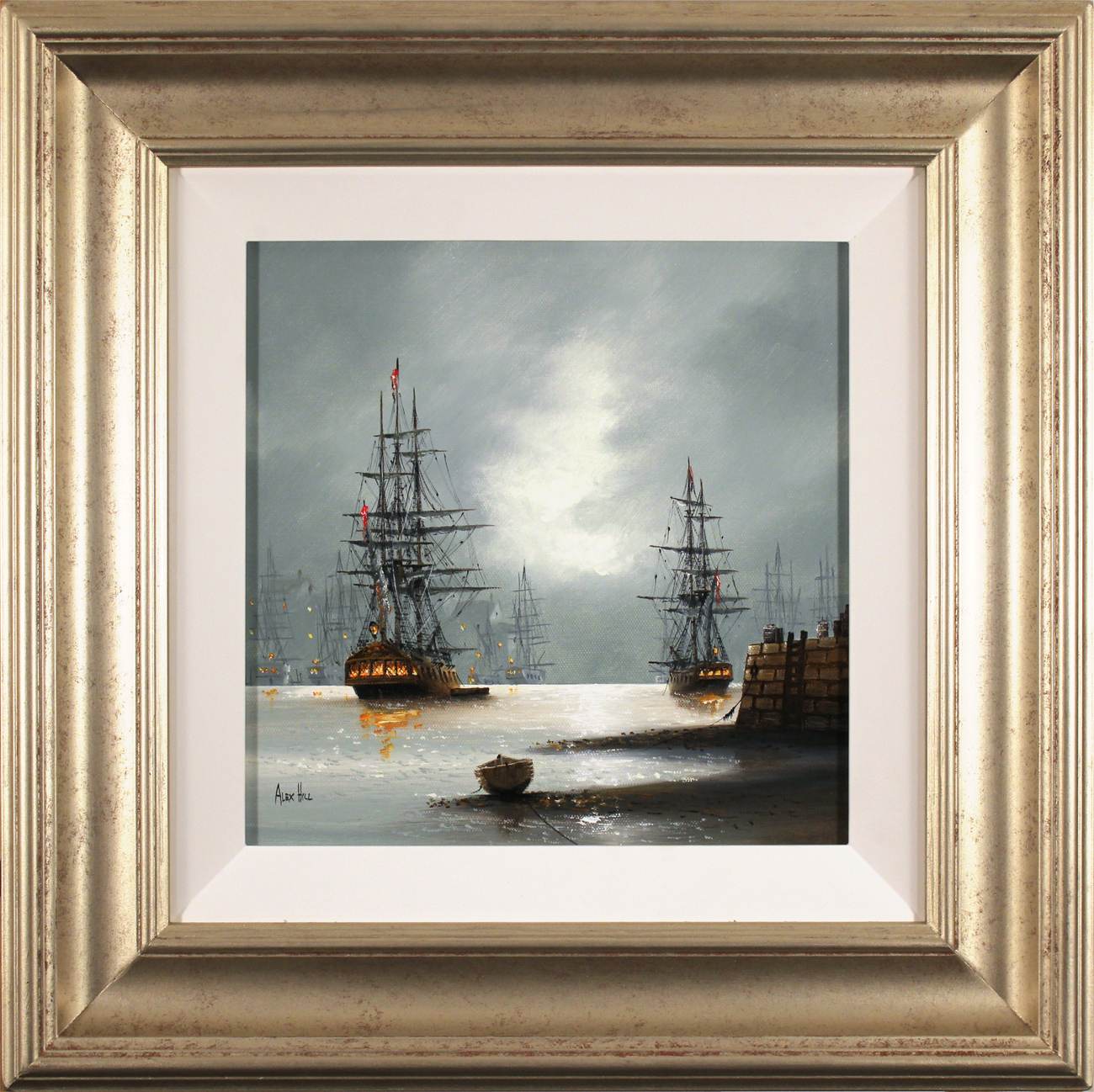 Alex Hill, Original oil painting on canvas, Dockside Click to enlarge
