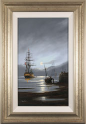 Alex Hill, Leaving Port, Original oil painting on panel