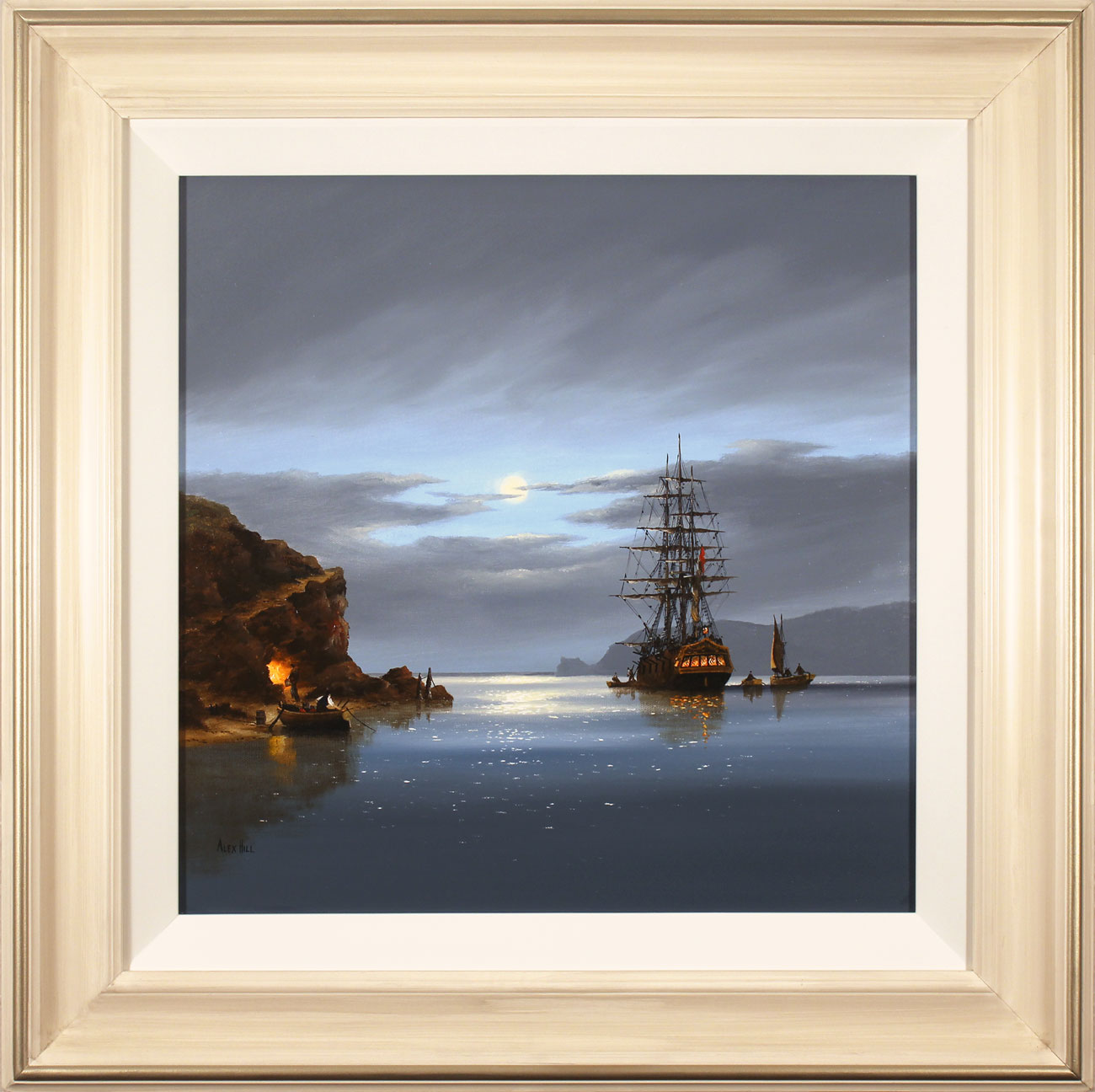 Alex Hill, Original oil painting on canvas, Moonlight Run Click to enlarge