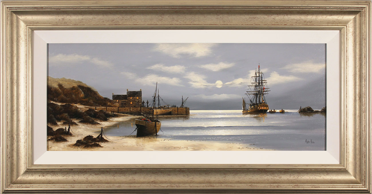 Alex Hill, Original oil painting on canvas, Smuggler's Bay Click to enlarge