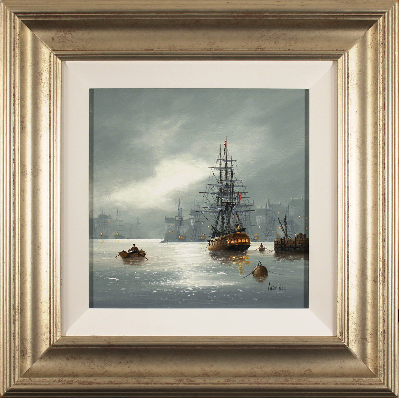 Alex Hill, Original oil painting on canvas, Leaving Port Click to enlarge