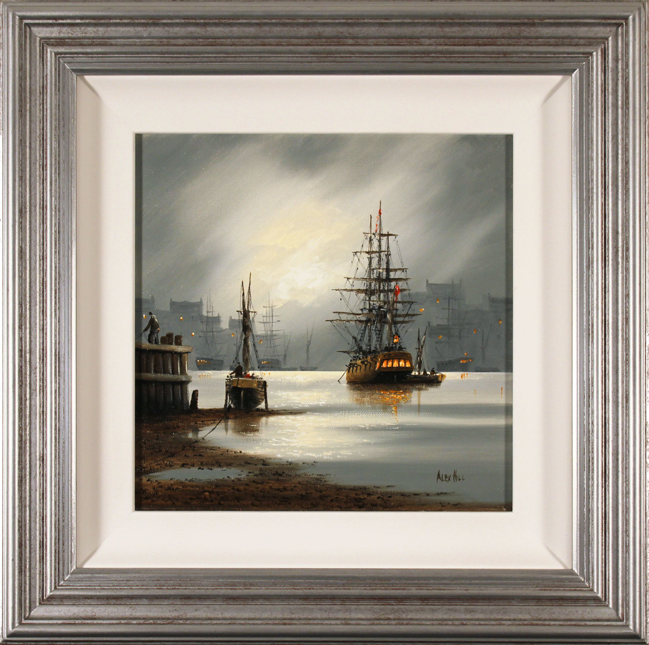 Alex Hill, Original oil painting on canvas, Moonlight Escape Click to enlarge