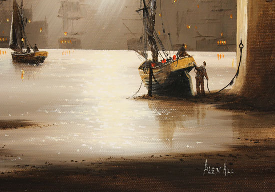 Alex Hill, Original oil painting on canvas, Harbour Fog Signature image. Click to enlarge