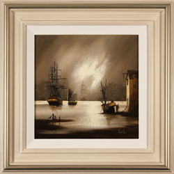 Alex Hill, Original oil painting on canvas, Harbour Fog Medium image. Click to enlarge