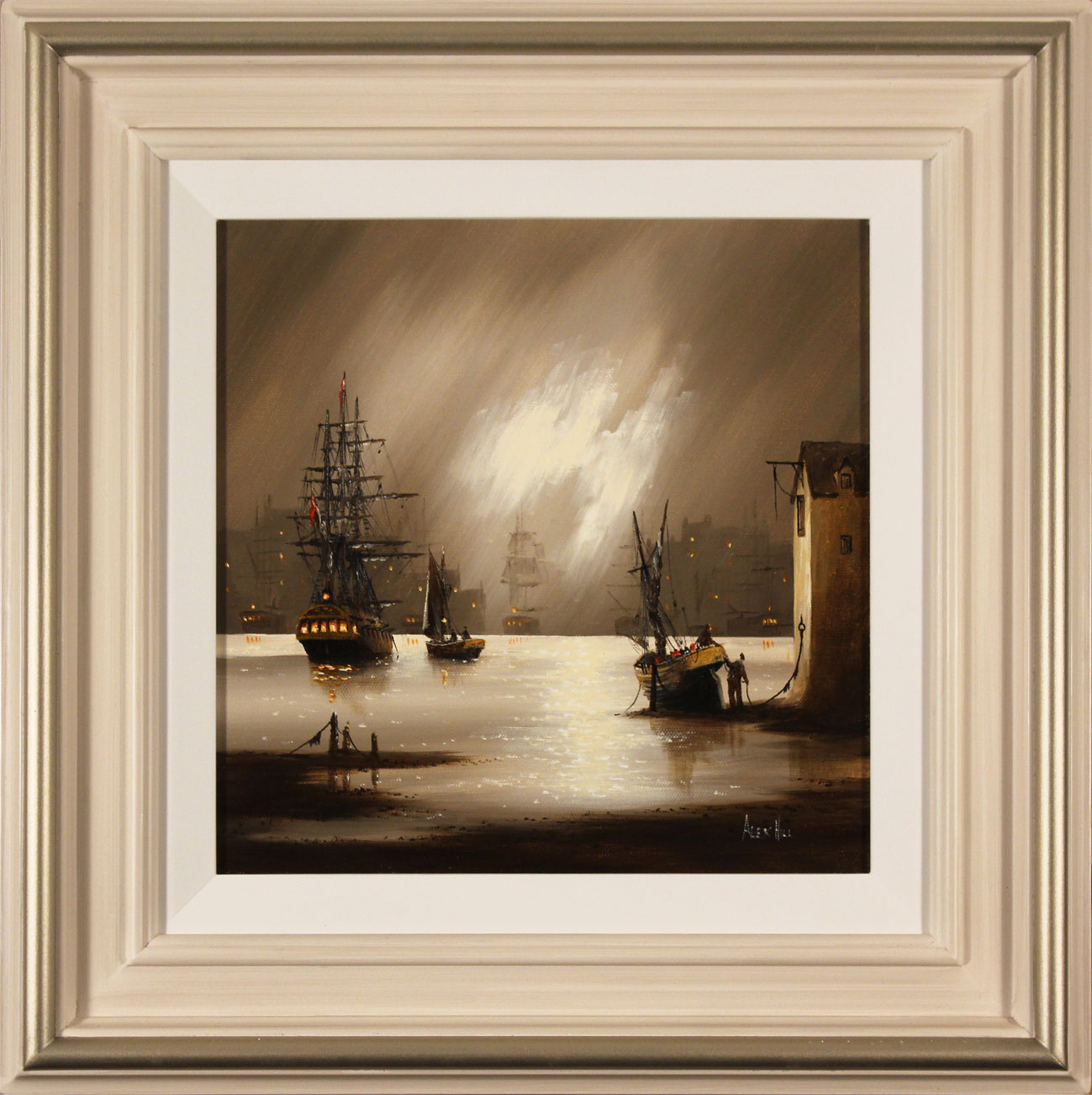Alex Hill, Original oil painting on canvas, Harbour Fog Click to enlarge