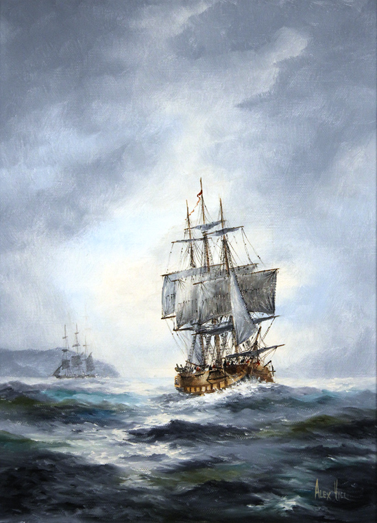 Alex Hill, Original oil painting on canvas, After the Storm No frame image. Click to enlarge