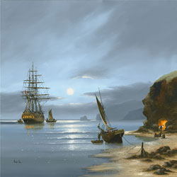 Alex Hill, Signed limited edition print, Smuggler's Cove Medium image. Click to enlarge