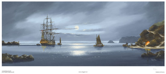 Alex Hill, Signed limited edition print, Anchor at Smuggler's Cove No frame image. Click to enlarge