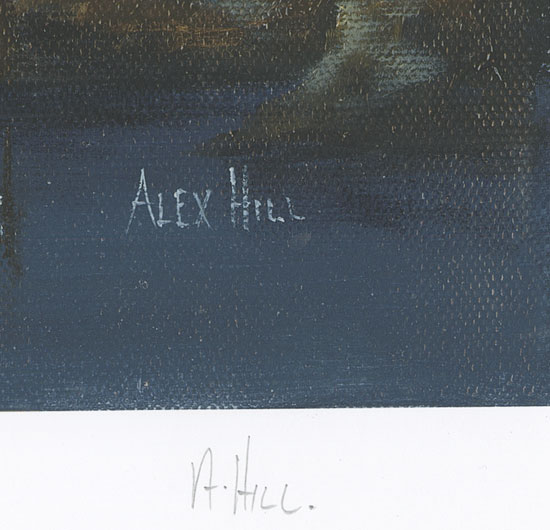 Alex Hill, Signed limited edition print, Anchor at Smuggler's Cove Signature image. Click to enlarge