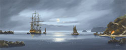 Alex Hill, Signed limited edition print, Anchor at Smuggler's Cove Medium image. Click to enlarge