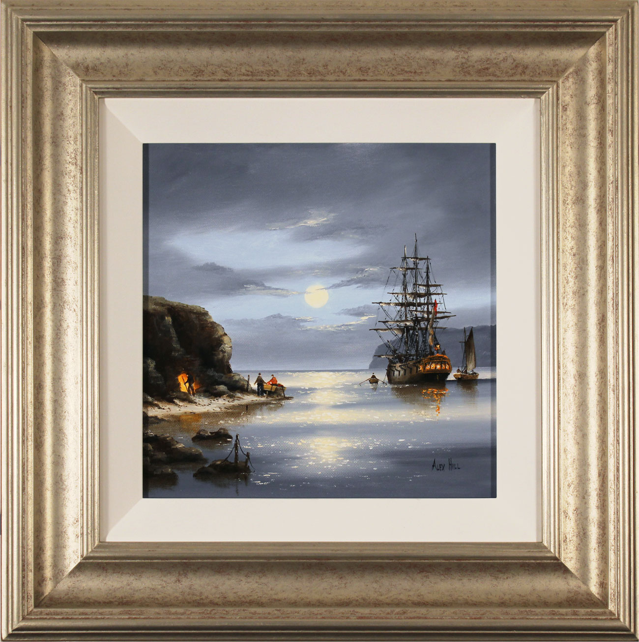 Alex Hill, Original oil painting on canvas, Moonlight Cove Click to enlarge