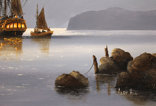 Alex Hill, Original oil painting on canvas, Smuggler's Cove Signature image. Click to enlarge