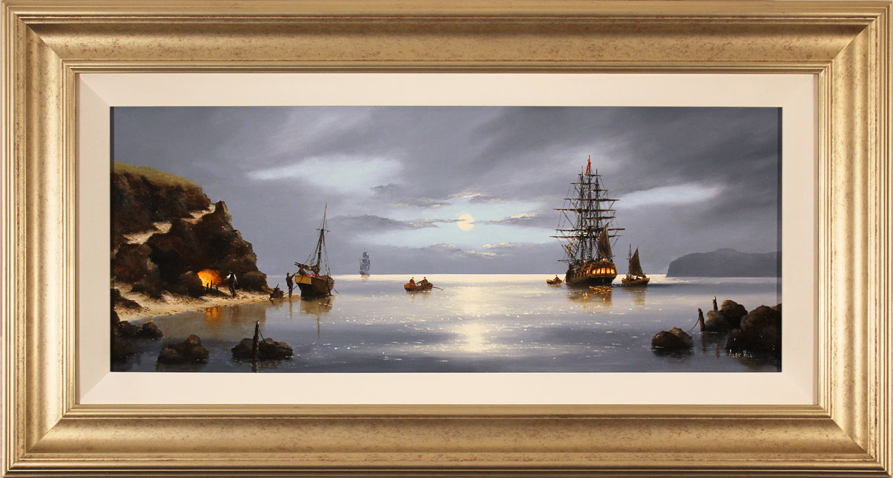 Alex Hill, Original oil painting on canvas, Smuggler's Cove Click to enlarge