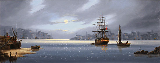 Alex Hill, Original oil painting on canvas, Lifting Anchor No frame image. Click to enlarge