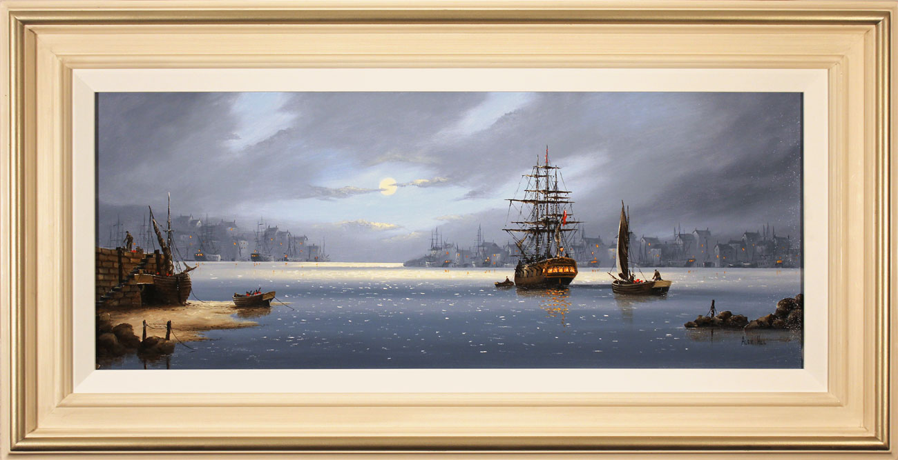 Alex Hill, Original oil painting on canvas, Lifting Anchor Click to enlarge