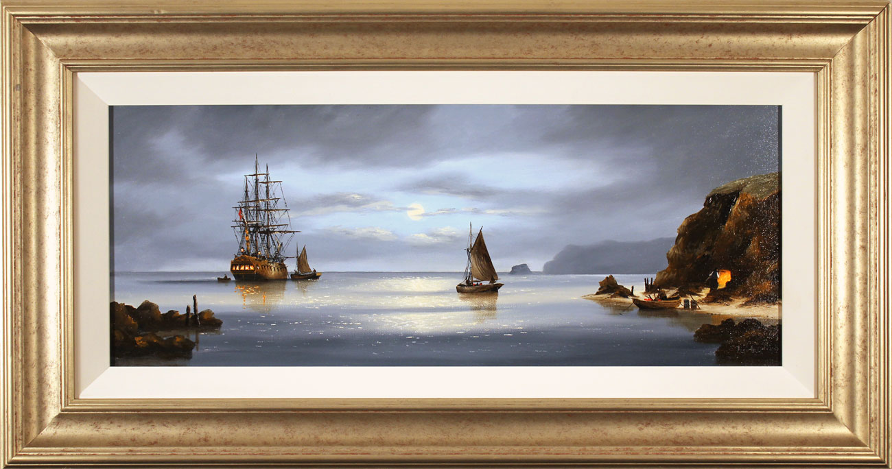 Alex Hill, Original oil painting on canvas, Return to Smuggler's Cove Click to enlarge