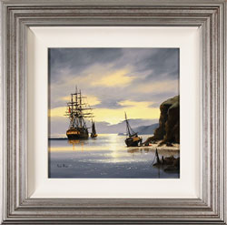 Alex Hill, Original oil painting on canvas, Sunrise Smugglers