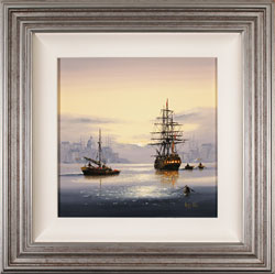 Alex Hill, Original oil painting on canvas, Set Sail at Sunrise