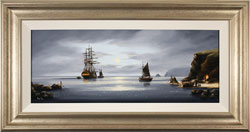 Alex Hill, Original oil painting on canvas, Moonlight Smugglers Medium image. Click to enlarge