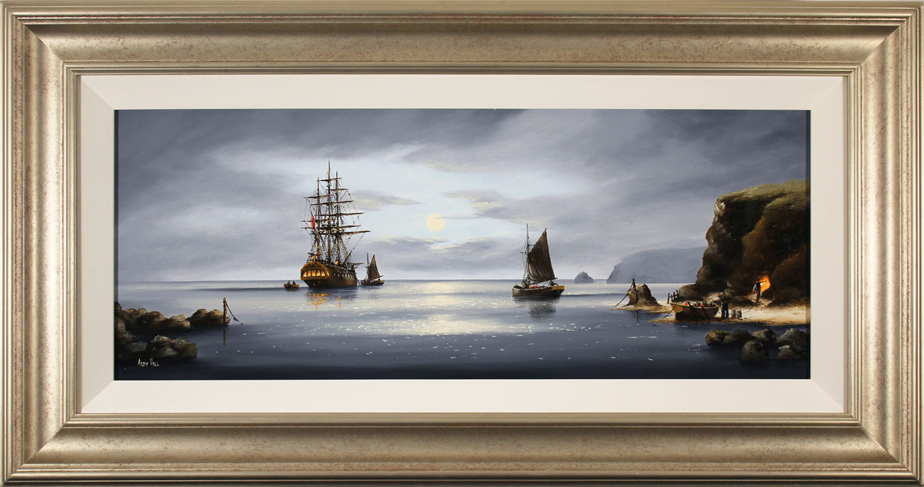 Alex Hill, Original oil painting on canvas, Moonlight Smugglers Click to enlarge
