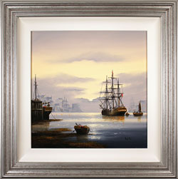 Alex Hill, Original oil painting on canvas, Sunrise Harbour