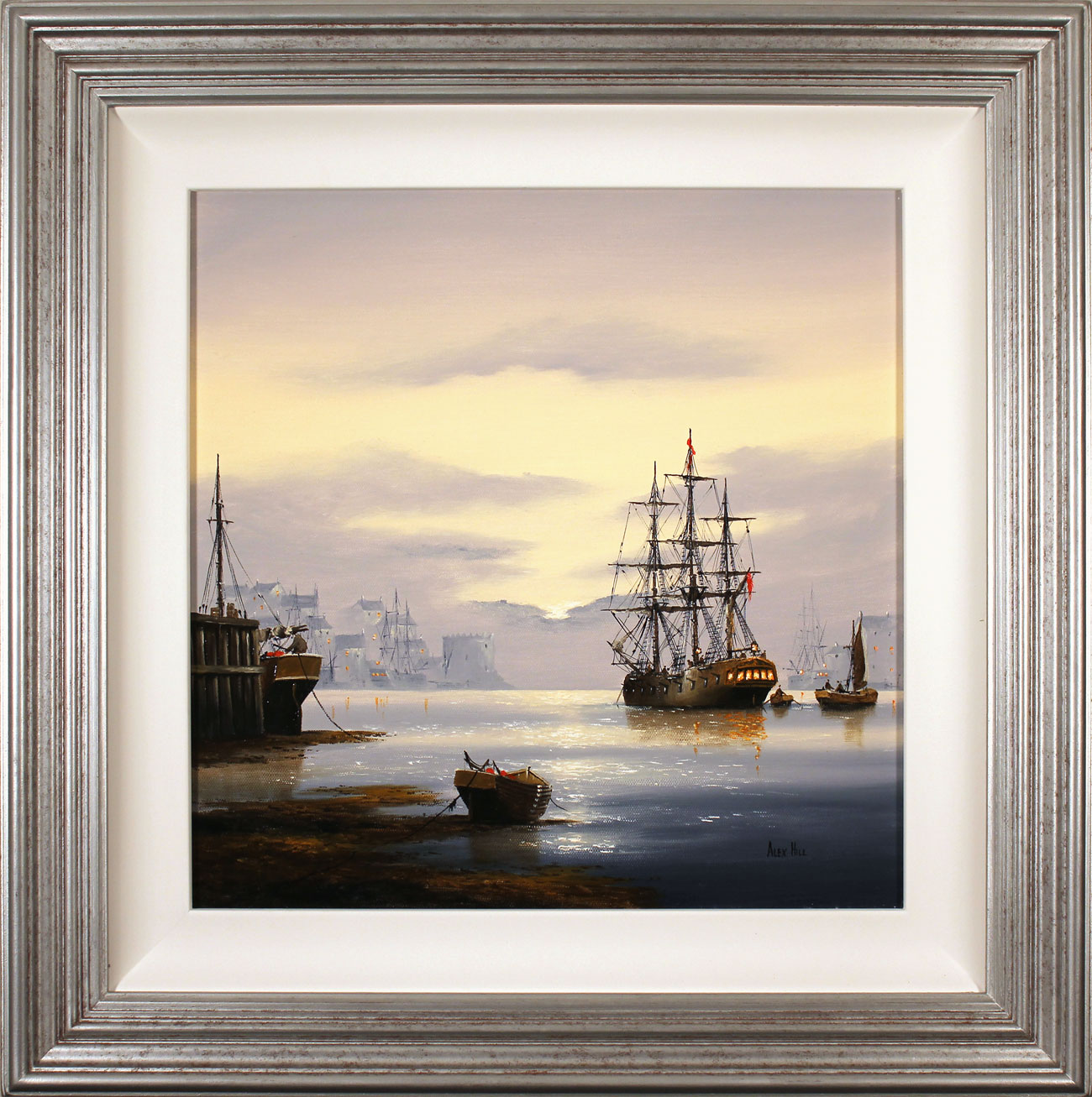 Alex Hill, Original oil painting on canvas, Sunrise Harbour Click to enlarge
