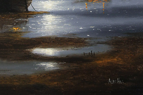 Alex Hill, Original oil painting on panel, Silver Tides Signature image. Click to enlarge