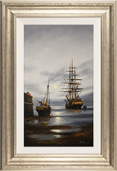 Alex Hill, Original oil painting on panel, Silver Tides Medium image. Click to enlarge