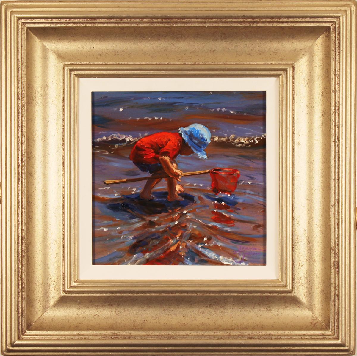 Amanda Jackson, Original oil painting on panel, Paddling for Pebbles Click to enlarge