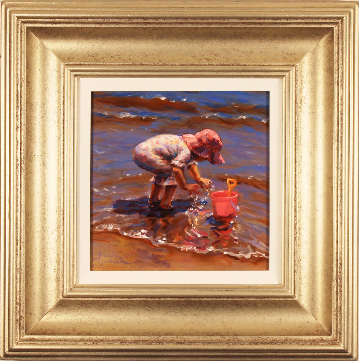 Amanda Jackson, Original oil painting on panel, Splish Splash Click to enlarge