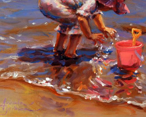 Amanda Jackson, Original oil painting on panel, Splish Splash Signature image. Click to enlarge
