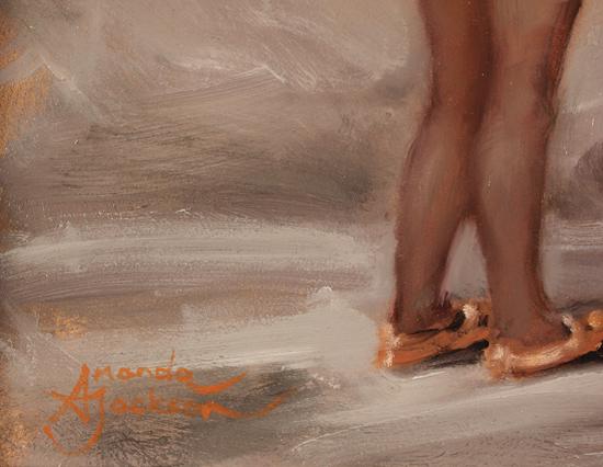 Amanda Jackson, Original oil painting on panel, Best Friends Signature image. Click to enlarge