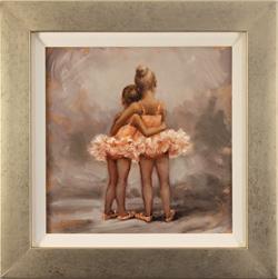 Amanda Jackson, Original oil painting on panel, Best Friends Medium image. Click to enlarge