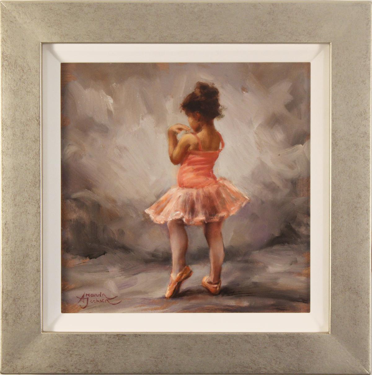 Amanda Jackson, Original oil painting on panel, I'm Shy Click to enlarge