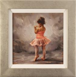 Amanda Jackson, Original oil painting on panel, I'm Shy Medium image. Click to enlarge