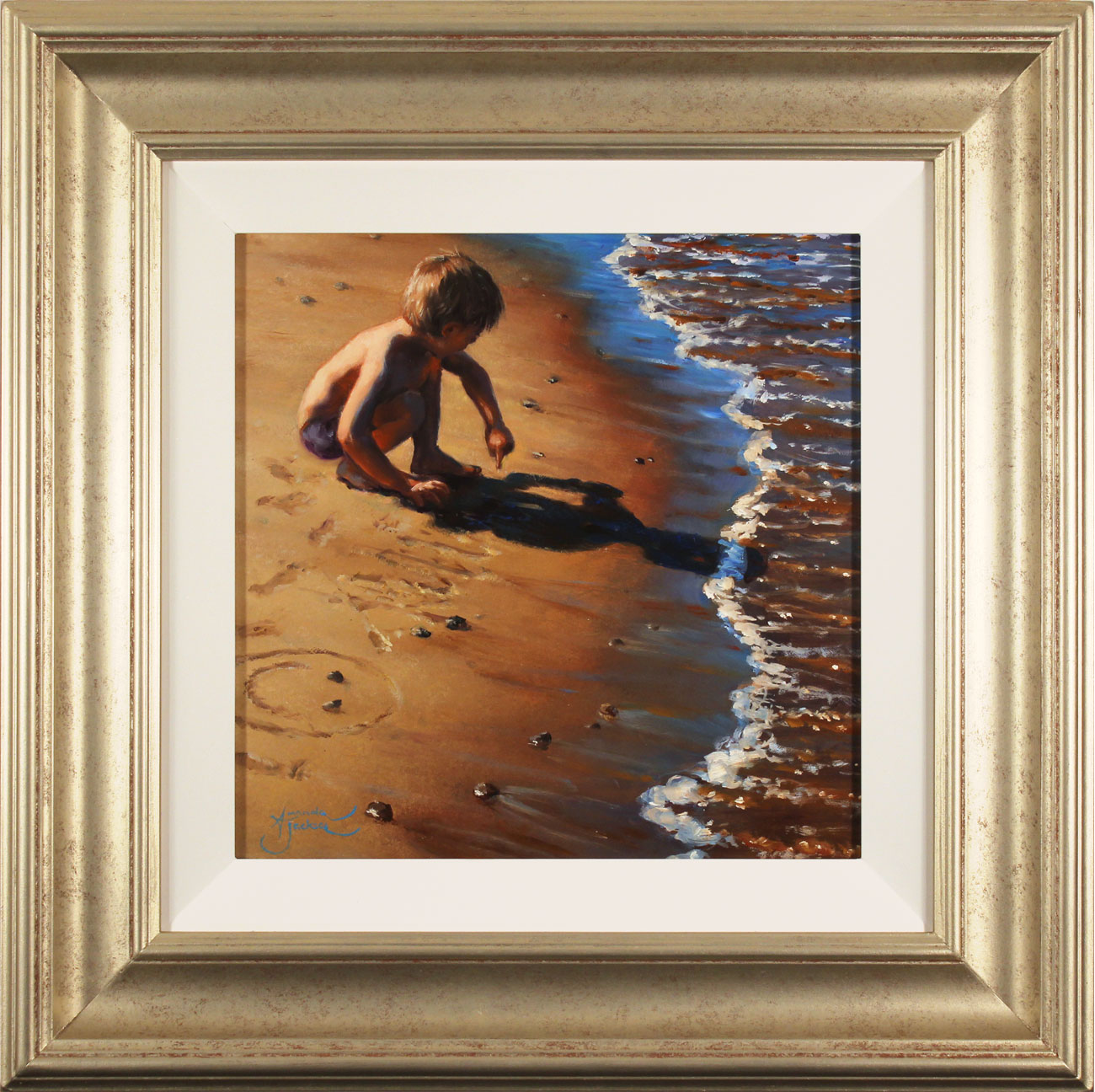 Amanda Jackson, Original oil painting on panel, Lines in the Sand Click to enlarge