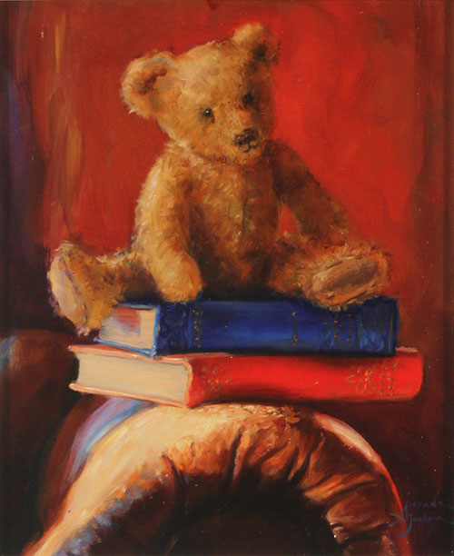 Amanda Jackson, Original oil painting on panel, Tall Stories