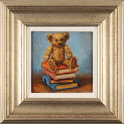 Amanda Jackson, Bear's Best Books, Original oil painting on panel