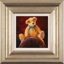 Amanda Jackson, Bear's Blue Ribbon, Original oil painting on panel