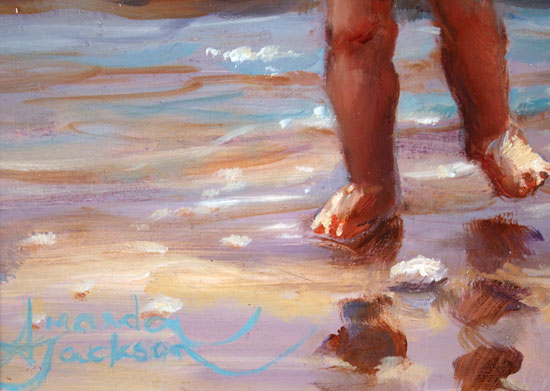 Amanda Jackson, Original oil painting on panel, Day at the Seaside Signature image. Click to enlarge