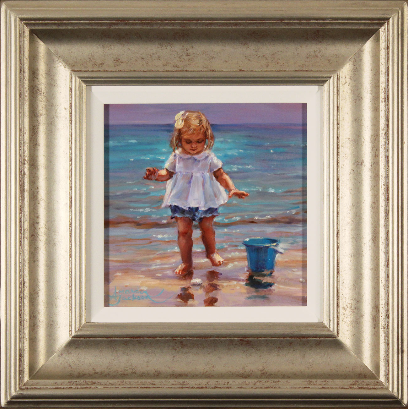 Amanda Jackson, Original oil painting on panel, Day at the Seaside Click to enlarge