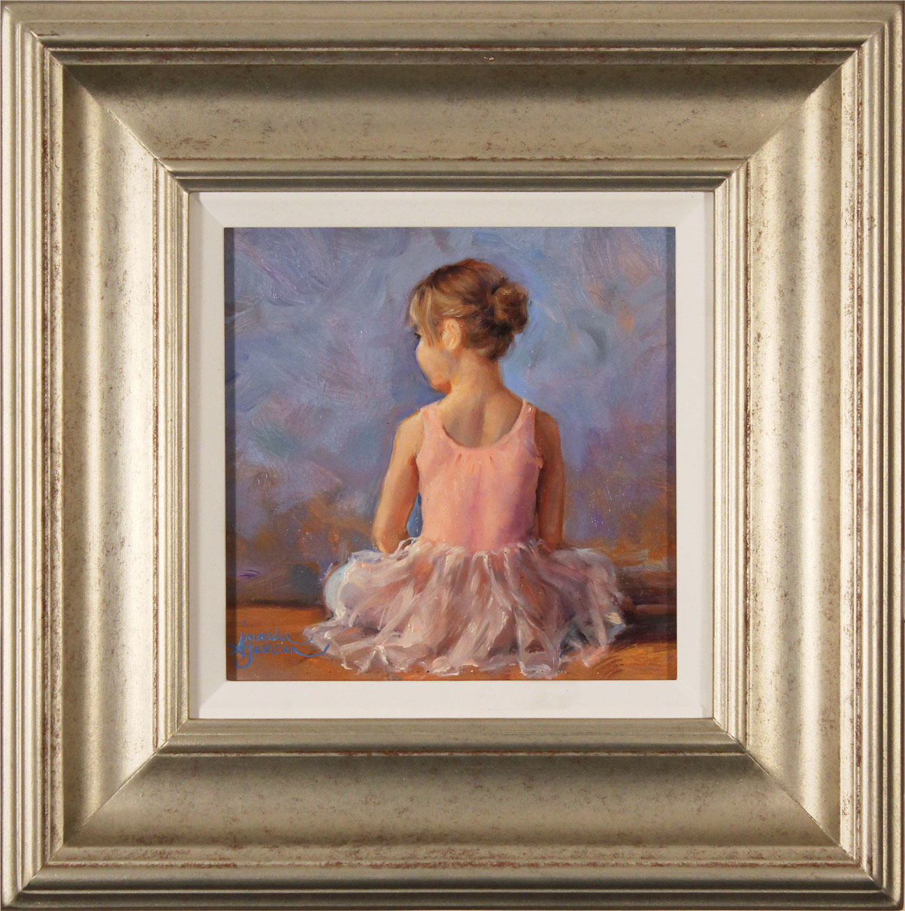 Amanda Jackson, Original oil painting on panel, Sitting Pretty Click to enlarge