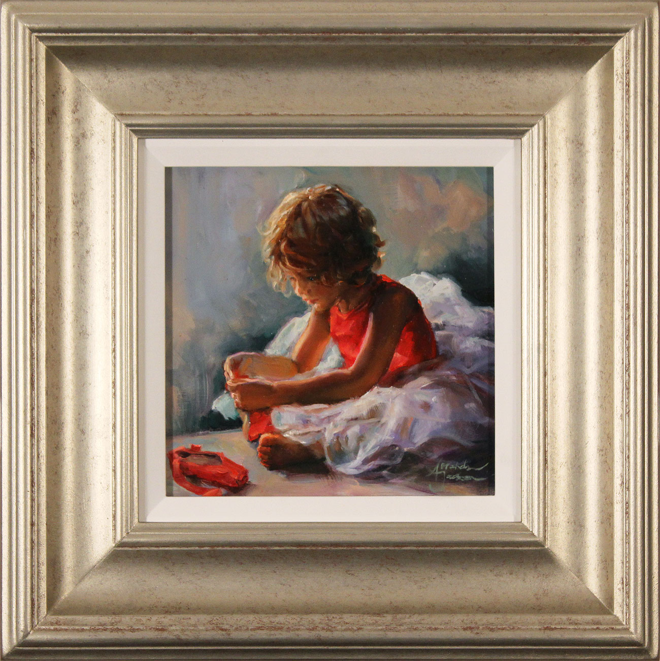 Amanda Jackson, Original oil painting on panel, Ruby Slippers Click to enlarge
