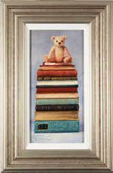Amanda Jackson, Original oil painting on panel, Little Bear's Big Reads