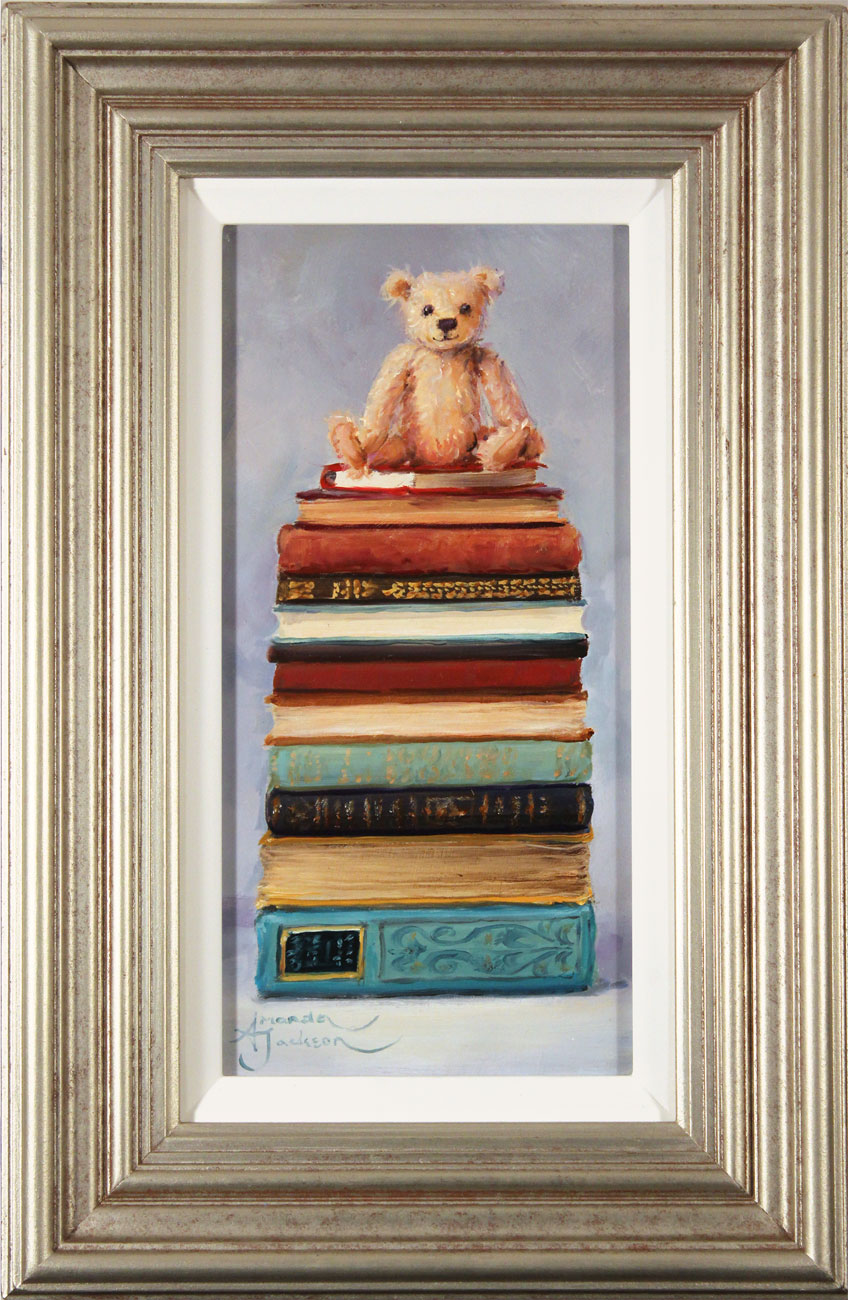 Amanda Jackson, Original oil painting on panel, Little Bear's Big Reads Click to enlarge